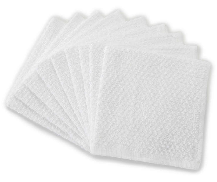 9 Pack White Wash Cloths