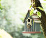 "9.06""H Solid Wood Rustic Birdhouse"