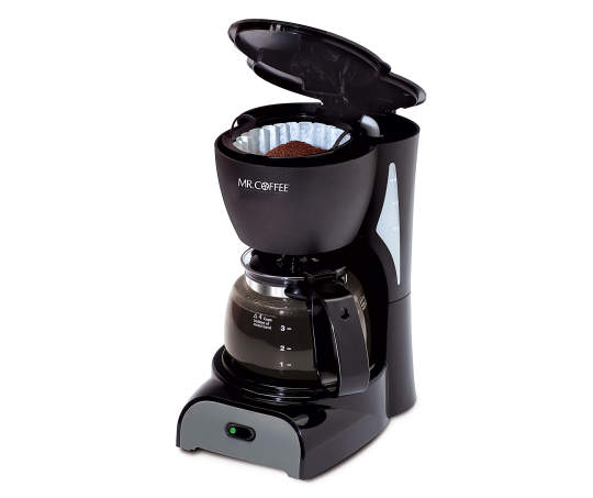 Deals on Mr. Coffee Black Simple Brew 4-Cup Switch Coffee Maker