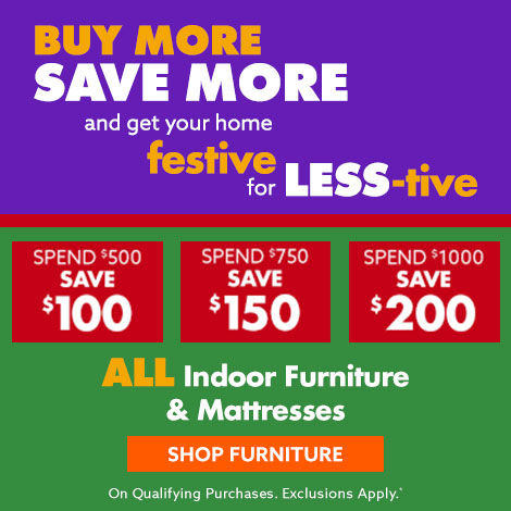 Furniture and mattresses buy more save more save up to 200 Shop Now.