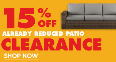 15% Off Already Reduced Patio Clearance. Shop Now.