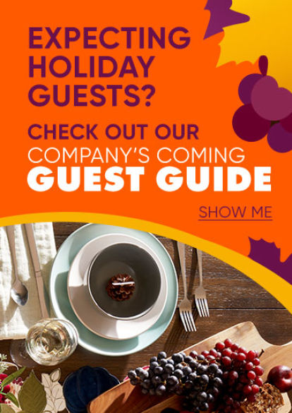 Are you expecting holiday guests? Click to check out our company's coming guest guide.