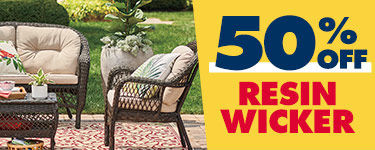 50 percent off Resin Wicker