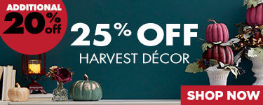 Take an additional 20% Off Harvest Decor