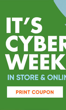 Its Cyber Week! In store and online. Friday is Buy-day. Extra 20 percent off all food and personal care gift sets. December 6th only. Discount applied in cart. Print coupon. Shop Now.