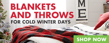 Blankets and throws for cold winter days. Shop Now.