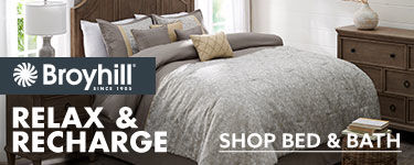 Relax and recharge. shop bed and bath