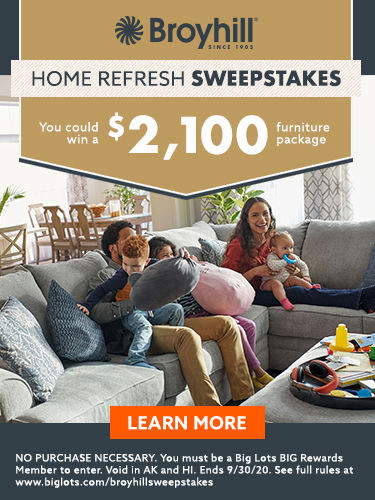 Broyhill sweepstakes. Home refresh . You could win a 2,100 furniture package. Learn more.