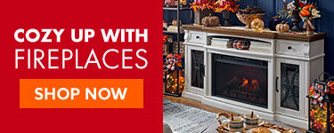 Cozy up with Fireplaces. shop now