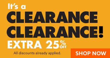 Select clearance 25 percent off. shop now
