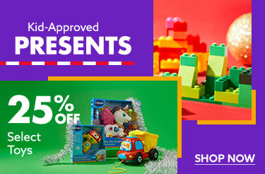 25 Percent off select Toys. shop now