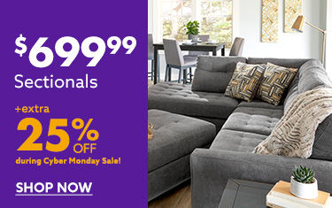 699 Sectionals extra 25 percent off shop now