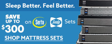 Save up to 300 on Serta or Sealy m mattress sets Shop Now