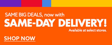Introducing Same day delivery.
