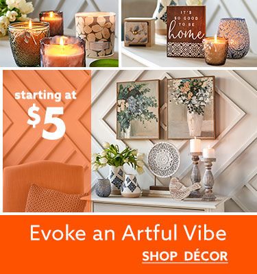 EVOKE an artful vibe shop decor