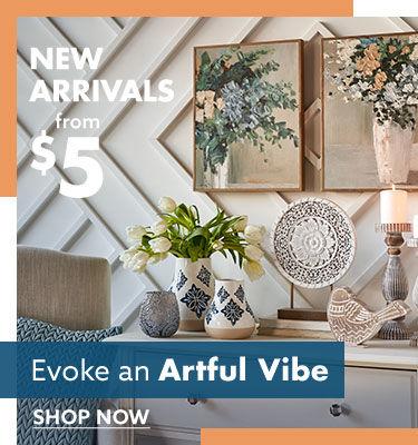 EVOKE an artful vibe shop decor