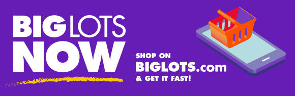 Anything you need, as fast as you need it! Big Lots NOW convenient shopping options.