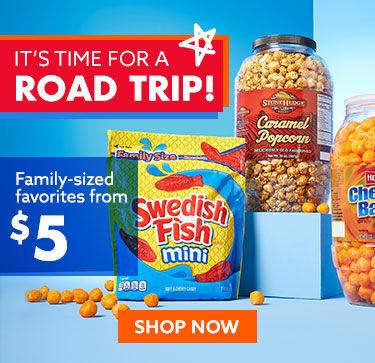 Road trip snacks shop now