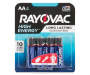 AA Alkaline Battery, 4 Count Silo Image Overhead View