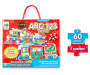 ABC and 1 2 3 Train Jumbo Floor Puzzle Set 60 Pieces silo front