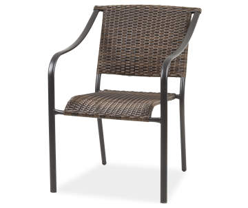 Wilson Fisher Brown All Weather Wicker Stacking Outdoor Dining Chair
