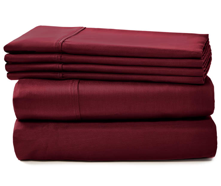 APRIMA 800TC BURGUNDY SHEETS QUEEN