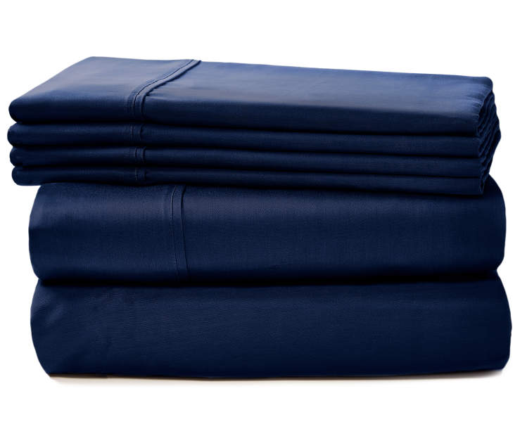 APRIMA 800TC NAVY SHEETS QUEEN
