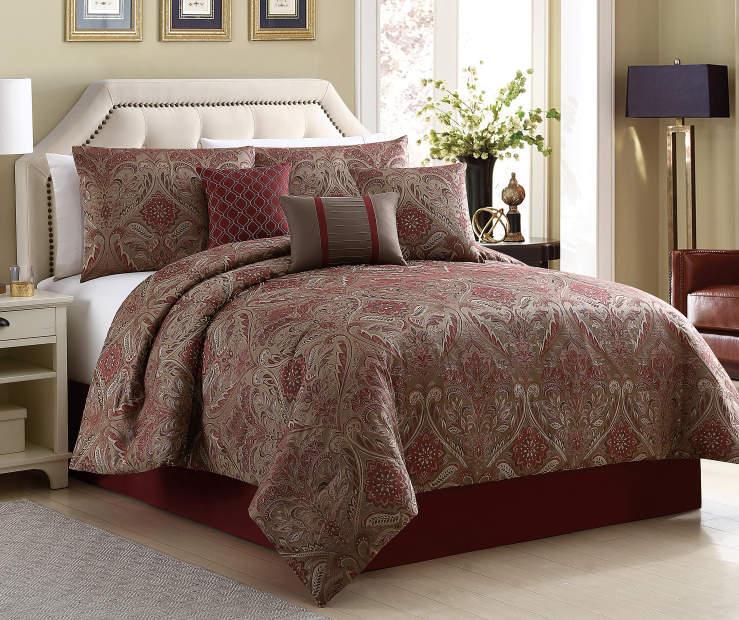 Aprima Aprima La Grange Tan 7 Piece Jacquard Comforter