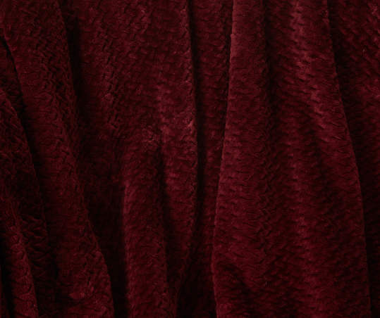 Aprima Burgundy King Supreme Velvet Blanket | Big Lots