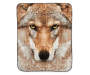 ARCTIC TRAIL THROW WOLF FACE 19