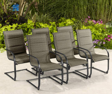 6-Pack Wilson & Fisher Aspen Padded Fabric Spring Chairs Deals
