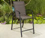 ASPEN PADDED FABRIC BALCONY STACK CHAIR