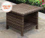 AUGUSTA 26 IN SQUARE ALL WEATHER WICKER SIDE TABLE