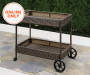 AUGUSTA ALL WEATHER WICKER  BEVERAGE CART