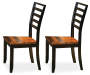 Abaco Brown Ladder Back Dining Chairs 2 Pack Silo