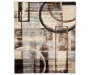 Abstract Tan and Black Area Rug 6 feet 7 inch x 8 feet 6 inch silo front