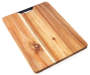 Acacia Cutting Board with Handle 16 inch x 12 inch silo front