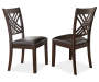 Adrian Brown X Faux Leather Dining Chairs 2 Pack Silo