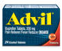 Advil (24 Count) Pain Reliever/Fever Reducer Coated Tablet, 200mg Ibuprofen, Temporary Pain Relief