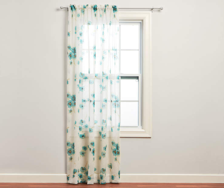 Aegean Crushed Voile Sheer Curtain Panel 84 Inches on Window Room View