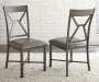 Alamo Gray Faux Leather Dining Chairs 2 Pack Lifestyle