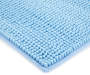 Alaskan Blue Textured Bath Rug 24 Inches Silo Image Corner Image Close Up