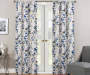 Alexa Multi-Color Botanical Room-Darkening Single Curtain Panel 84 inches Lifestyle