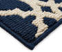 Alexa Navy Blue Quaterfoil Accent Rug 1 feet 8 inch x 2 feet 10 inch silo front corner