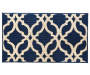 Alexa Navy Blue Quaterfoil Accent Rug 1 feet 8 inch x 2 feet 10 inch silo front