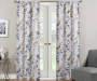 Alexa Yellow & Blue Botanical Room-Darkening Single Curtain Panel 63 inches Lifestyle+6