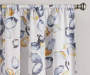 Alexa Yellow & Blue Botanical Room-Darkening Single Curtain Panel 84 inches Cropped Lifestyle