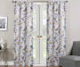 Alexa Yellow & Blue Botanical Room-Darkening Single Curtain Panel 84 inches Lifestyle