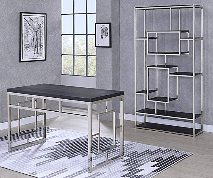 Office Furniture Collection: Alize Cappuccino & Chrome Office Furniture Collection