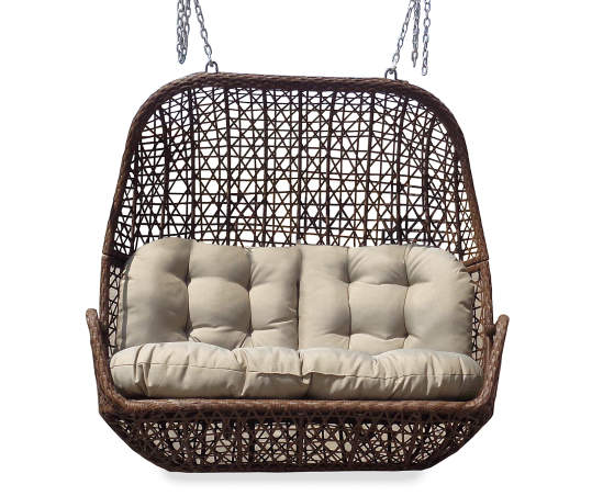 All Weather Wicker Cushioned Loveseat, Big Lots Outdoor Canopy Swing